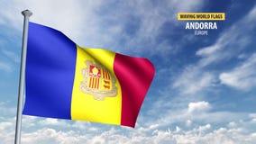 animering för flagga 3D av Andorra