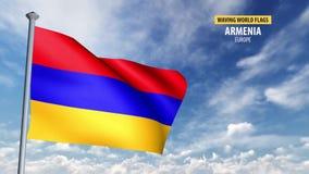 animering för flagga 3D av Armenien