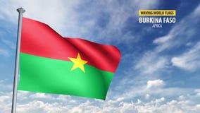 animering för flagga 3D av Burkina Faso