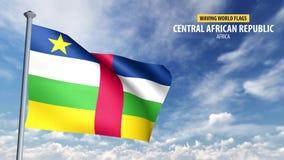 animering för flagga 3D av Centralafrikanska republiken