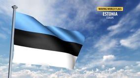 animering för flagga 3D av Estland