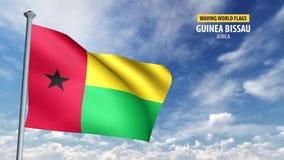 animering för flagga 3D av Guinea Bissau