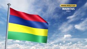 animering för flagga 3D av Mauritius