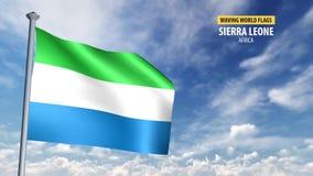 animering för flagga 3D av Sierra Leone mp4