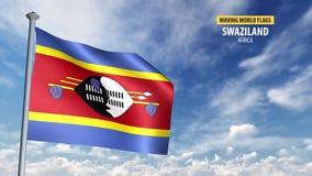animering för flagga 3D av Swaziland