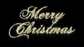 Animering för glad jul för partikel, Alpha Channel, sömlös ögla lager videofilmer
