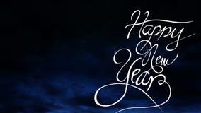 Animering för lyckligt nytt år med fyrverkerier