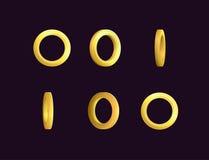 Animering för Sprite arkeffekt av brusande och att rotera för stjärna för snurr en guld- För videopp effekter modig utveckling royaltyfri illustrationer