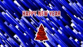 Animering 2019 för tekniskt fel för glad jul och för lyckligt nytt år kretsad distorsion lager videofilmer