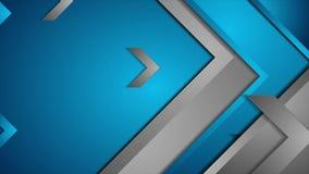 Animering för teknologi för blåa grå färger video med pilar stock video