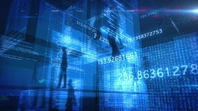 Animering för teknologi 4K för folk för datakod