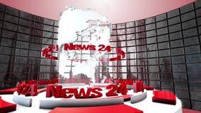 Animering för TV-sändningvärldsögla Fotografering för Bildbyråer