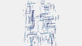 Animering för typografi för moln för ord för företag för företags affär stock video