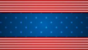 Animering för video för USA flaggafärger royaltyfri illustrationer
