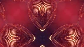 animering 4k sömlös 3d som science fictionbakgrund med glödpartiklar och djup av fältet, bokeh och ljusa effekter glöda arkivfilmer