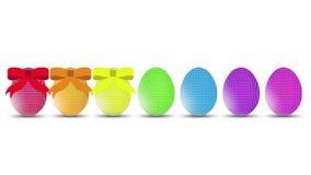 Animering med färgrika easter ägg
