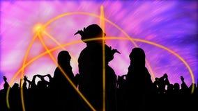 animeringdans som presenterar olika silhouettes Royaltyfria Bilder