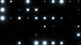 Animeringdiskopanel med lampor som blinkar vita ljus på svart bakgrund royaltyfri illustrationer