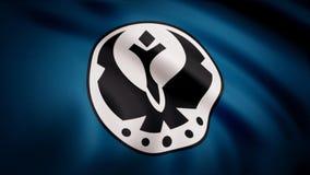 Animeringen av flaggan av den galaktiska federationen av fria allianser Temat för stjärnakrig Bruk för ledare endast royaltyfri illustrationer