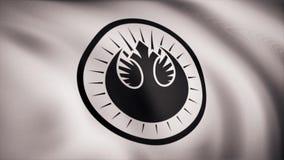 Animeringen av flaggan av den nya Jedi beställningen Temat för stjärnakrig Bruk för ledare endast vektor illustrationer