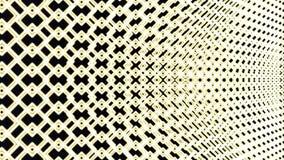 Animeringen av linjer och fyrkanter för ett raster frambragte rörande runt om på måfå passande för bakgrundsbruk Enfärg stock video
