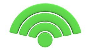 Animeringen av symbolet för det trådlösa nätverket roterar Royaltyfri Fotografi