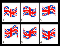 Animeringengelskaflagga Royaltyfri Bild