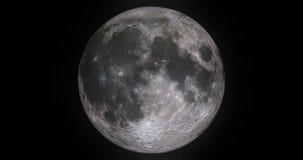 Animeringmånefaser med ljus rörelse av månen ytbehandlar med krater på stjärnljusbakgrund, universum och vetenskap stock illustrationer