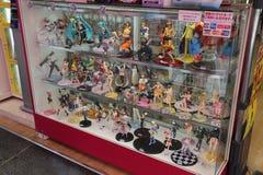 Animestatyetter i Akihabara Tokyo, Japan Fotografering för Bildbyråer