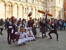 Animetecken på Lucca komiker och lekar 2014 Royaltyfri Foto