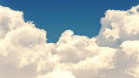 Animeted clouds with mild colours on clear blue sky. stock video footage