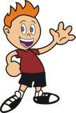 Animowana chłopiec ręka opuszczać Obrazy Stock