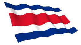 Animowana flaga Costa Rica ilustracja wektor