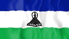 Animowana flaga Lesotho ilustracja wektor