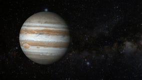 Animowana jeden rewolucja planeta Jupiter royalty ilustracja