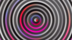 Animowana Multicolor Różowa Purpurowa Czerwona gradientów okregów I lampasów pętla zbiory wideo
