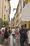 Animowana ulica w Gardzie Obrazy Royalty Free