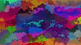 Animowanego pobrudzonego tła pętli bezszwowy wideo - różnobarwny zbiory wideo