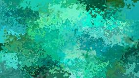 Animowanego pobrudzonego tła pętli bezszwowy wideo szmaragdowa zieleń, kobalt, cyraneczka i sosnowy kolor, - akwarela skutek -
