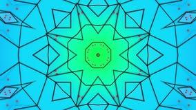 Animowani stubarwni wzory abstrakcja kalejdoskop 3 d czyni? ilustracji
