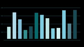 Animowany analiza dane raport ilustracja wektor