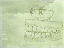 Animowany denture z antyk bazą royalty ilustracja