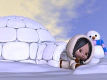 Animowany eskimo Fotografia Royalty Free
