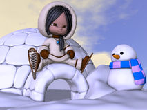 Animowany eskimo Zdjęcia Royalty Free