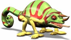 Animowany kameleon Zdjęcie Stock