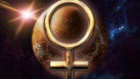 Animowany mąci zodiaka horoskopu planetę i symbol 3D odpłaca się 4k ilustracji