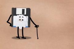 animowany opadającego dyska pojęcie Obraz Royalty Free