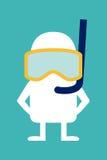 Animowany osobowość nurek Zdjęcie Royalty Free
