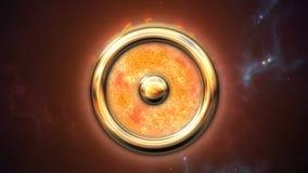 Animowany słońce zodiaka horoskopu symbol i planeta 3D odpłaca się 4k ilustracja wektor