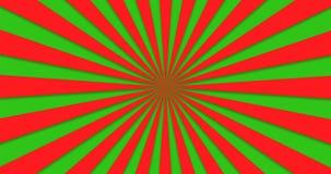 Animowany tło kolorowi wiruje promienie ilustracja wektor